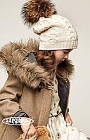 Детский теплый вязанный комплект для девочки от BARBARAS Польша