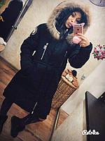 Очень теплое женское стильное зимнее пальто
