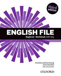 Рабочая тетрадь English File 3rd Edition Beginner Workbook with iChecker CD-ROM