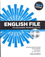 English File 3rd Edition Pre-Intermediate Workbook with key and iChecker CD-ROM