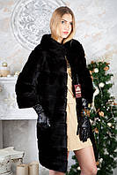 Шуба из норки BlackGlama длинная Real mink fur coats jackets, фото 1
