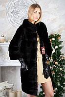 Шуба из норки BlackGlama длинная Real mink fur coats jackets, фото 1