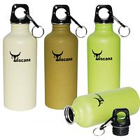 Бутылка -фляга для воды с карабином спортивная 600 мл.