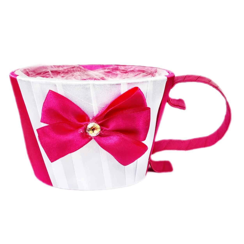 Чашка для цветов  маджента 8,5 х12 см