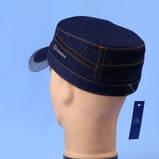 Кепка немка мужская из джинсы на флисе чёрная синяя коричневая 56-57 58 59 60, фото 5