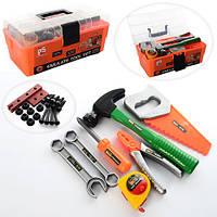 Набор инструментов 2133  молоток,пила,плоскогубцы,рулетка,болты,в чемодане, 31,5-16,5-14см