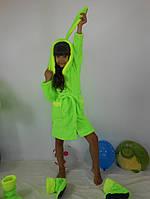 Детский махровый набор халат с сапожками
