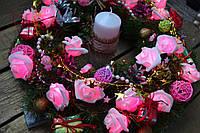 """Новогодний и рождественский венок """"Радость праздника"""""""