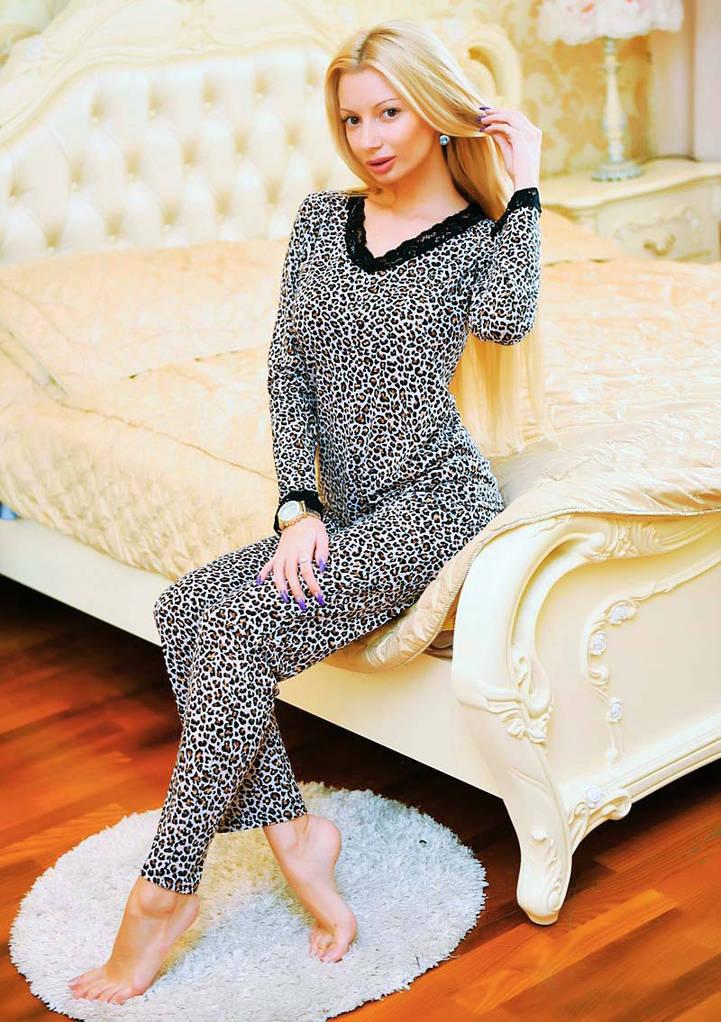 Элегантный женский домашний комплект-пижама 323
