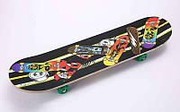 Скейтборд в сборе (роликовая доска) SK-151 (колесо-PVC, р-р деки 78х20х1,2см, 608Z)