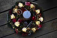 """Новогодний и рождественский венок """"Нежность"""""""
