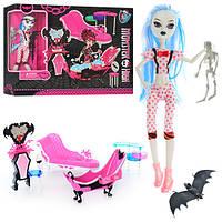 Мебель 66535 MH, диван, ванна, трюмо, кукла-шарнирная 26см, скелет, в кор-ке, 41-32-10,5см