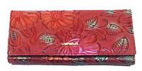 Женский кошелек Danica 018-0036 из натуральной кожи корчневый с монетницей внутри