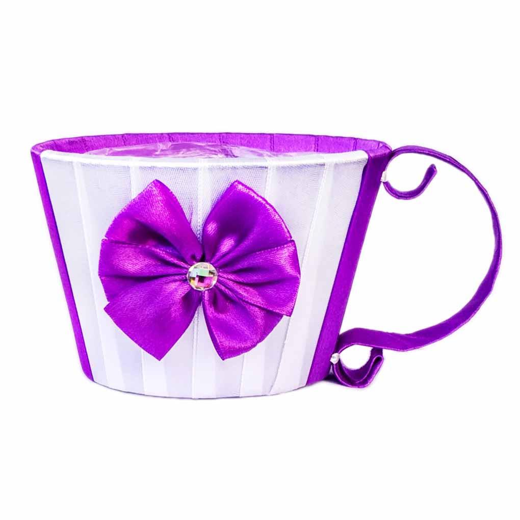 Чашка для цветов фиолетовая 8,5 х12 см