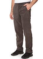 Теплые флисовые зимние мужские штаны коричневого цвета