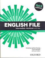 Рабочая тетрадь English File 3rd Edition Intermediate Workbook with keys