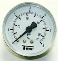 Манометр T-meter 0-6 bar аксиальный (горизонтальный), фото 1