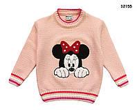 Вязаная кофта Minnie Mouse для девочки. 86-92;  98-104 см, фото 1