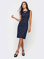 Классическое женское платье приталенного силуэта без рукавов 90183, фото 1