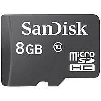 Карта памяти SanDisk micro SDHC 8Gb Class 10