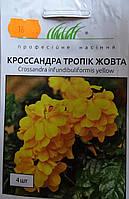 Семена цветов сорт кроссандра тропик жолтая