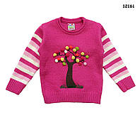 "Вязаная кофта ""Дерево"" для девочки.  1 год, фото 1"