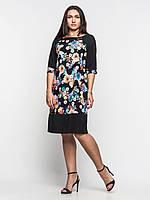 Элегантное платье больших размеров свободного кроя 90105