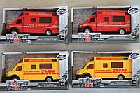 Машинка инерция серия служебные машины, 18,5см, в коробке 22-12-7 см