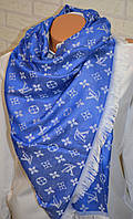 Палантин шарф в стиле Louis Vuitton (Луи Витон) синий