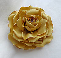 """Брошь из ткани ручной работы """"Горчичная роза"""""""