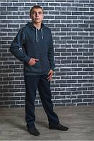 Кенгуру с начесом мужская цвет джинс