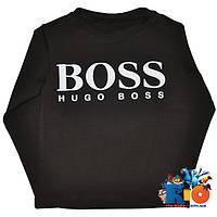 """Детская футболка с длинным рукавом """"BOSS"""", для мальчиков (рост 92-116 см)"""