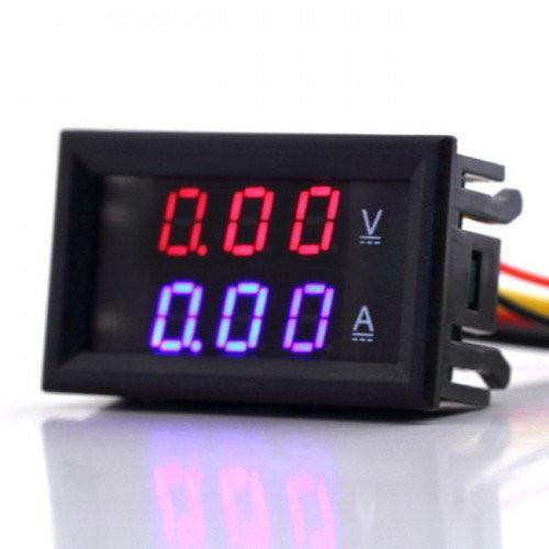 Цифровой вольтметрамперметр 100В