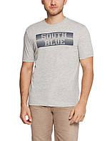 Мужская футболка LC Waikiki светло-серого цвета с надписью South blue