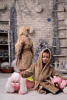 Халатик детский с ушками махровый 1517 е.в, фото 1