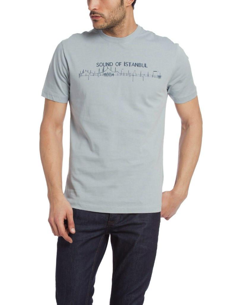 a47a7c0c5296b Мужская футболка LC Waikiki серого цвета с надписью SOUND OF ISTANBUL -  Интернет-магазин