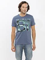 Мужская футболка LC Waikiki серого цвета с надписью