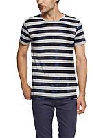 Мужская футболка LC Waikiki серо-синии полоски