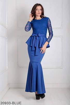 Жіноче синє вечірнє плаття Elegans