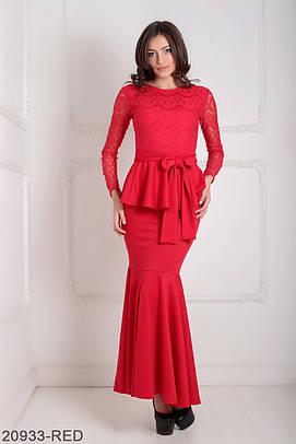 Жіноче червоне вечірнє плаття Elegans