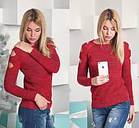 Модный женский свитер с люрексом