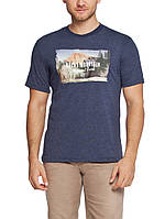 Мужская футболка LC Waikiki синего цвета с надписью Rocky mountain, фото 1