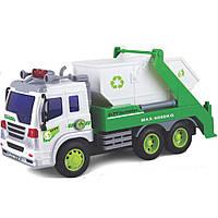 Спецтехника Junior trucker Строительный мусоровоз со светом и звуком 28 см (33026)