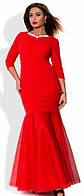 Вечернее платье в пол с фатиновой юбкой. Большие размеры. Разные цвета.