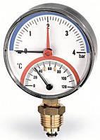 Термоманометр радиальный Watts F+R828 (TIRM 80 0-4Bar 0-120°C)