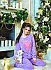 """Пижама женская """"Сердца"""" сиреневого и розового цвета. Подарок под ёлку"""