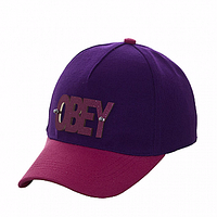 Бейсболка на лето фиолетовая Obey