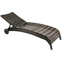 Шезлонг РЛ-11758 коричневый, Лежак, мебель для бассейна, мебель для сада, мебель для сауны, мебель для пляжа