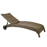 Шезлонг РЛ-11758 капучино, Лежак, мебель для бассейна, мебель для сада, мебель для сауны, мебель для пляжа