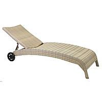 Шезлонг РЛ-11758 бежевый, Лежак, мебель для бассейна, мебель для сада, мебель для сауны, мебель для пляжа